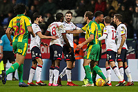 Tempers flare between both teams<br /> <br /> Photographer Andrew Kearns/CameraSport<br /> <br /> The EFL Sky Bet Championship - Bolton Wanderers v West Bromwich Albion - Monday 21st January 2019 - University of Bolton Stadium - Bolton<br /> <br /> World Copyright © 2019 CameraSport. All rights reserved. 43 Linden Ave. Countesthorpe. Leicester. England. LE8 5PG - Tel: +44 (0) 116 277 4147 - admin@camerasport.com - www.camerasport.com