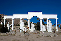 Desert Christ Park was created in the 1950s in Yucca Valley California by sculptor Antone Martin who fashioned concrete into over 35 Biblical figures. He created the park as his personal statement of peace rather than religious devotion.