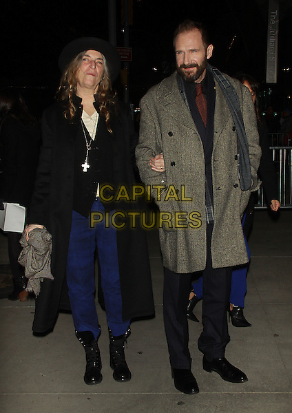 NEW YORK, NY - FEBRUARY 26 2014 -Patti Smith, Ralph Fiennes, at the premiere of the Grand Budapest Hotel at Alice Tully Hall Lincoln Center in New York .Credit: RW/MediaPunch<br /> CAP/MPI/RW<br /> &copy;RW/ MediaPunch/Capital Pictures