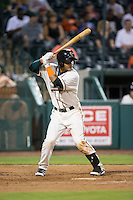 Angel Reyes (30) of the Greensboro Grasshoppers at bat against the Kannapolis Intimidators at NewBridge Bank Park on July 7, 2016 in Greensboro, North Carolina.  The Dash defeated the Pelicans 13-9.  (Brian Westerholt/Four Seam Images)