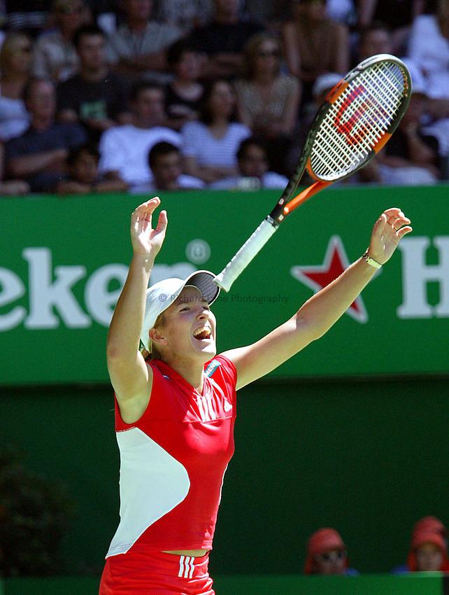 Justine Henin Hardenne, Women's Final. Australian Tennis Open 2004, Melbourne, Australia