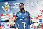 Getafe's new player Henok Goitom during his official presentation.March 29, 2016. (ALTERPHOTOS/Acero)