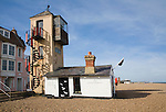 The town's southern wreckers look-out tower, Aldeburgh, Suffolk, England