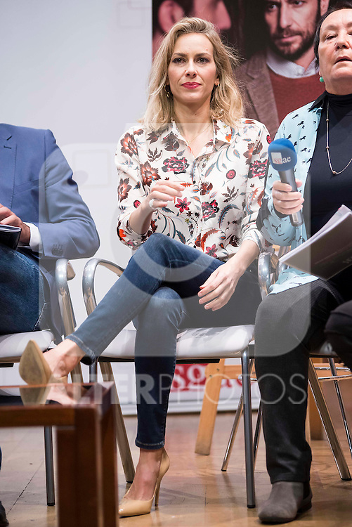 """Kira Miro during the presentation of the theater play """"El Hombre Duplicado"""" , based in the book of Jose Saramago at SGAE in Madrid, Spain. December 12, 2016. (ALTERPHOTOS/BorjaB.Hojas)"""