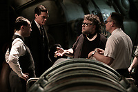 The Shape of Water (2017) <br /> Michael Stuhlbarg, Michael, Shannon, Director/Writer/Producer  Guillermo del Toro and David Hewlett on the set of <br /> *Filmstill - Editorial Use Only*<br /> CAP/KFS<br /> Image supplied by Capital Pictures
