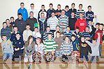Young Hurlers - Members of the Kilmoyley U11, U12, U14 and U16 hurling teams pictured at their award ceremony and Christmas party held in The Kilmoyley Community Centre on Saturday evening.............................................................................................................................................................................................. ........................   Copyright Kerry's Eye 2008