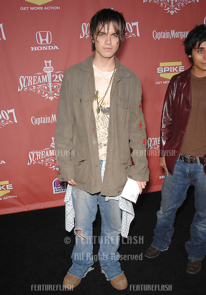 "Thomas Dekker at Spike TV's ""Scream 2007"" Awards honoring the best in horror, sci-fi, fantasy & comic genres, at the Greak Theatre, Hollywood..October 20, 2007  Los Angeles, CA.Picture: Paul Smith / Featureflash"
