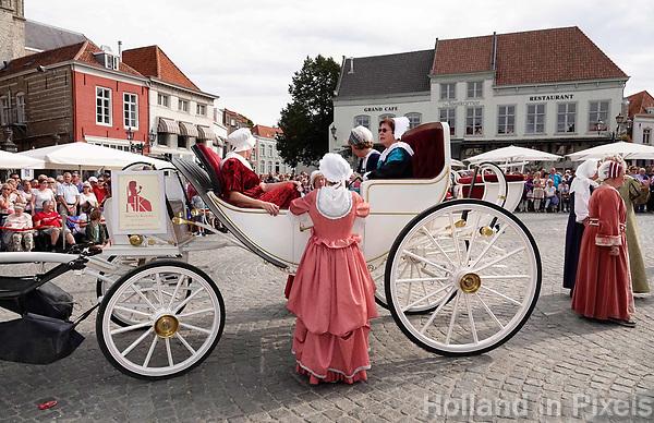 Nederland - Bergen op Zoom - 16 september 2018. Rijtuigenmuseum De Koetserij. Op zondag 16 september 2018 vindt in Bergen op Zoom de Brabant Stoet plaats. Dit is een grootst opgezet festival van de lopende cultuur. Deze vorm van cultuur is kenmerkend voor Brabant. In de Brabant Stoet zijn zo'n honderd vormen van lopende (en rijdende) cultuur te zien zoals gilden, fanfares, steltlopers, reuzen, carnaval, ommegangen en praalwagens. De Brabant Stoet wordt samengesteld met groepen uit zowel Noord-Brabant als Vlaams- en Waals-Brabant.   Foto Berlinda van Dam / Hollandse Hoogte
