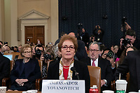Former U.S. Ambassador to Ukraine Marie Yovanovitch arrives following a break to testify before the U.S. House Permanent Select Committee on Intelligence as they investigate the impeachment of US President Donald J. Trump on Capitol Hill in Washington D.C., U.S., on Friday, November 15, 2019. <br /> <br /> Credit: Stefani Reynolds / CNP/AdMedia
