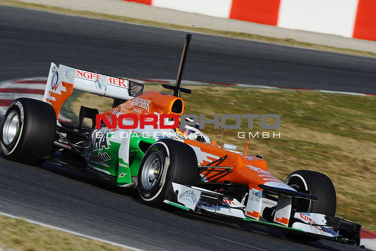21.02.2012, Circuit De Catalunya, ESP, Barcelona, Formula 1, Testfahrten 2012, im Bild Nico Huelkenberg (GER), Force India Formula One Team  Foto © nph / Mathis