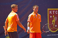 Austria, Kitzbühel, Juli 18, 2015, Tennis,  Junior Davis Cup, ltr: Bart Stevens and Guy den Heijer (NED) (R)<br /> Photo: Tennisimages/Henk Koster