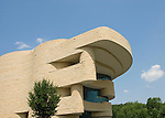 Washington DC; USA:  National Museum of the American Indian, inspiring new architecture on the Mall..Photo copyright Lee Foster Photo # 12-washdc83237