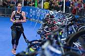 June 11th 2017, Leeds, Yorkshire, England; ITU World Triathlon Leeds 2017; Non Stanford about to change onto her bike