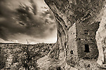 Thunderstorm Over Tower House Ruins