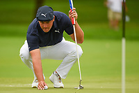 Bryson DeChambeau (USA) lines up his birdie putt on 11 during Rd4 of the 2019 BMW Championship, Medinah Golf Club, Chicago, Illinois, USA. 8/18/2019.<br /> Picture Ken Murray / Golffile.ie<br /> <br /> All photo usage must carry mandatory copyright credit (© Golffile | Ken Murray)
