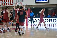 STANFORD, CA - December 30, 2017: Kyler Presho, Leo Henken, Eric Beatty, Evan Enriques, Jaylen Jasper, Russell Dervay at Burnham Pavilion. The Stanford Cardinal defeated the Calgary Dinos 3-1.