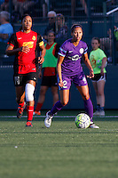 Rochester, NY - Saturday June 11, 2016: Orlando Pride defender Kristen Edmonds (12), Western New York Flash forward Jessica McDonald (14) during a regular season National Women's Soccer League (NWSL) match between the Western New York Flash and the Orlando Pride at Rochester Rhinos Stadium.