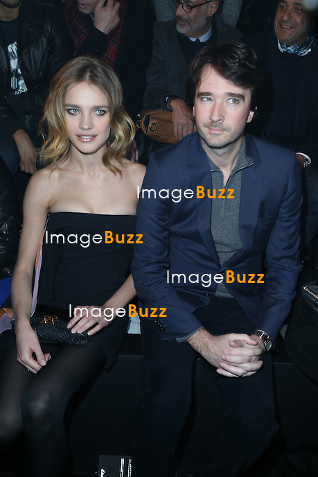 Natalia Vodianova and Antoine Arnault at the Etam Live Show to present Natalia Vodianova's lingerie collection at Bourse du Commerce in Paris, France, on February 26, 2013.
