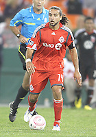 Dwayne De Rosario #14 of Toronto FC during an MLS match against D.C. United that was the final appearance of D.C. United's Jaime Moreno at RFK Stadium, in Washington D.C. on October 23, 2010. Toronto won 3-2.