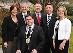 At the Killarney Chamber of Tourism and Commerce lunch in The Killarney Park Hotel was Chamber President Tom Randles with , from left, Jenny de Saulles, Failte Ireland, Conor Hennigan, Paul Keeley, Failte Ireland, Pat Chawke and Niamh O'Shea.  Picture: Eamonn Keogh (MacMonagle, Killarney)
