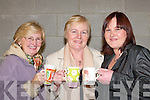 MUSIC: Doreen Davis, Fossa, Eileen Holmes, Killarney, and Amanda OBrien, Fossa, enjoying the Comhaltas night in Fossa Community Centre last Friday..