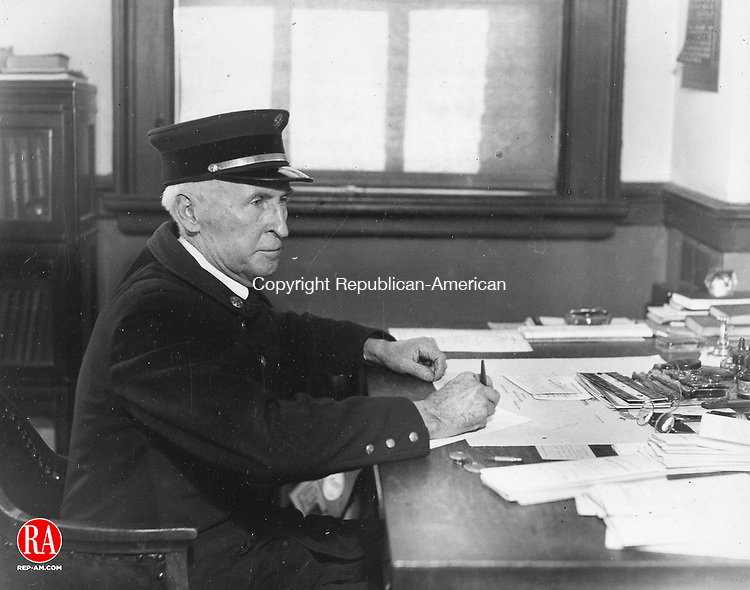 T.J. Lynch, chief of Waterbury's Fire Department in January 1935. Lynch served as chief from January 1935 to February 1937.