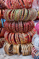Nepal, Patan.  Women's Bracelets for Sale in Shop.