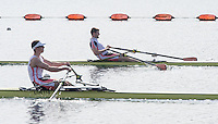 Caversham. Berkshire. UK<br /> Right, Tom BARRAS, during hs Semi final A/B1. at the 2016 GBRowing U23 Trials at the GBRowing Training base near Reading, Berkshire.<br /> <br /> Tuesday  12/04/2016<br /> <br /> [Mandatory Credit; Peter SPURRIER/Intersport-images]