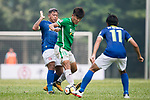 Chun Lok Tan of Wofoo Tai Po (R) fights for the ball with Cheuk Hin Lau of Rangers (L) during the week three Premier League match between BC Rangers and Wofoo Tai Po at Sham Shui Po Sports Ground on September 17, 2017 in Hong Kong, China. Photo by Marcio Rodrigo Machado / Power Sport Images