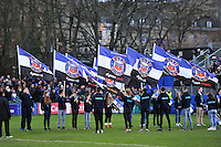 A general view of the half-time guard of honour. European Rugby Champions Cup match, between Bath Rugby and RC Toulon on January 23, 2016 at the Recreation Ground in Bath, England. Photo by: Patrick Khachfe / Onside Images