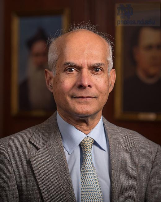 April 12, 2017; Mihir Sen, Emeritus faculty portrait (Photo by Matt Cashore/University of Notre Dame)