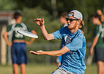 3 June 2016: Vermont Commons School plays South Burlington High in the second round of the VYUL State Ultimate Disk Championships at Bombardier Park in Milton, Vermont. Mandatory Credit: Ed Wolfstein Photo *** RAW (NEF) Image File Available ***