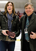 Jen Buckley (BC), Joe Bertagna - The Harvard University Crimson defeated the Boston College Eagles 5-0 in their Beanpot semi-final game on Tuesday, February 2, 2010 at the Bright Hockey Center in Cambridge, Massachusetts.