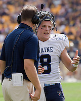 Maine Quarterback Warren Smith. The Pitt Panthers beat the Maine Black Bears 35-29 at Heinz Field, Pittsburgh, PA on September 10, 2011.