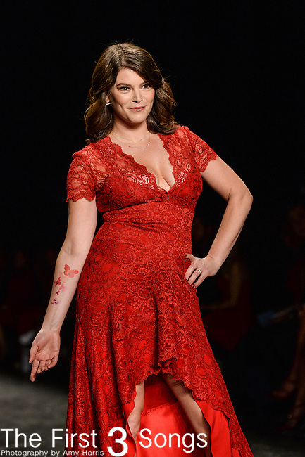 Gail Simmons walks the runway during the American Heart Association's Go Red For Women Fashion Show at the Mercedes-Benz Fashion Week Fall 2016 in New York City.