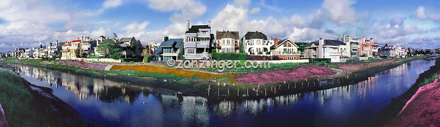 Marina Del Rey, CA, Grand Canal CGI Backgrounds, ,Beautiful Background