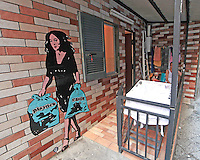 Murales nel centro Storico  di Napoli per dare il benvenuto a Dolce  Gabbana ed alle loro Muse in occasione della festa del trentennale della maison .<br /> Sofia Loren, Nicole Kidmann, Monica Bellucci, Madonna Naomi Campbell