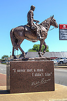 """""I never met a man I didn't like"" a monument to Will Rogers, located  in Claremore Oklahoma."
