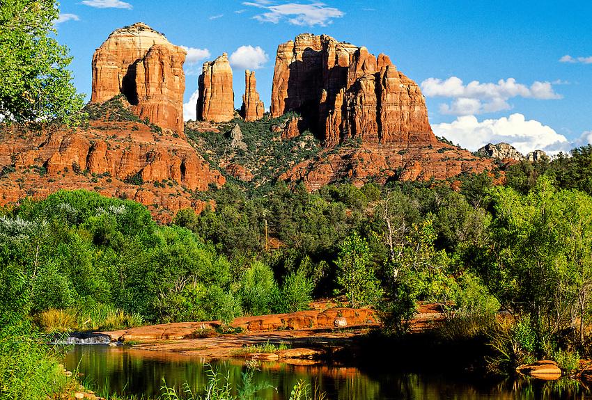 Oak Creek and Cathedral Rock, Sedona, Arizona USA
