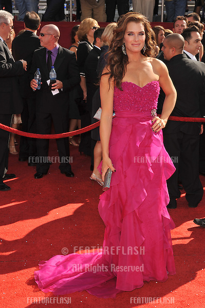 Brooke Shields at the 2008 Primetime Emmy Awards at the Nokia Live Theatre. .September 21, 2008  Los Angeles, CA..Picture: Paul Smith / Featureflash