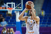 7th September 2017, Fenerbahce Arena, Istanbul, Turkey; FIBA Eurobasket Group D; Belgium versus Serbia; Power Forward Pierre-Antoine Gillet #13 of Belgium shoots on the basket during the match