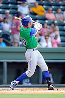 Outfielder Fred Ford (19) of the Lexington Legends in a game against the Greenville Drive on Monday, July 22, 2013, at Fluor Field at the West End in Greenville, South Carolina. Ford is the No. 23 prospect of the Kansas City Royals. Lexington won, 7-3. (Tom Priddy/Four Seam Images)