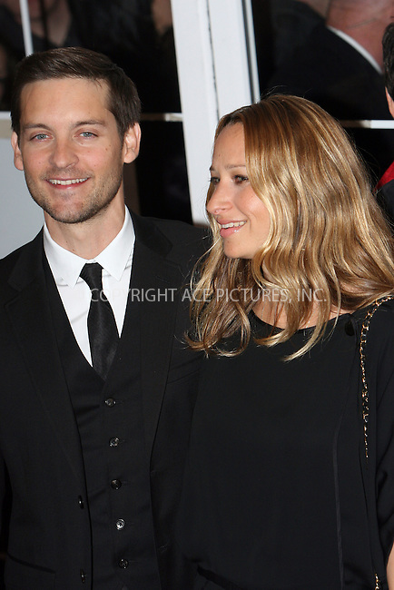 WWW.ACEPIXS.COM . . . . .  ....December 15 2009, New York City....Tobey Maguire and Jennifer Meyer arriving at the New York premiere of 'Nine' at the Ziegfeld Theatre on December 15 2009 in New York City....Please byline: NANCY RIVERA- ACE PICTURES.... *** ***..Ace Pictures, Inc:  ..tel: (212) 243 8787 or (646) 769 0430..e-mail: info@acepixs.com..web: http://www.acepixs.com