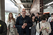 Moscow, press party at the opening of the new building of  the Museum of contemporary art Garage.Rem Koolhaas.