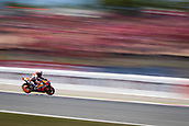 June 10th 2017,  Barcelona Circuit, Montmelo, Catalunya, Spain; MotoGP Grand Prix of Catalunya, qualifying day; Camera blur as Marc Marquez of  Repsol Honda Team during the qualifying session