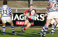 Harlequins scrum half Roger Kirkwood on the attack during the First Trust Senior Cup Final at Ravenhill. Result - Dungannon 27pts Harlequins 10pts.