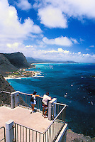 A short hike up to Makapuu Point offers a spectacular panoramic view of the windward side of Oahu. Makapuu Beach Park,  Sea life Park, Waimanalo Bay can be seen from this vantage point.