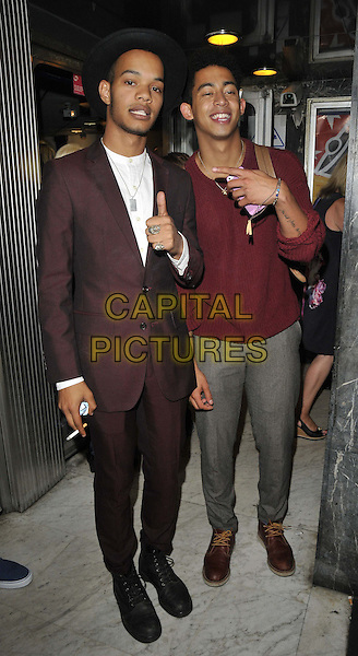 LONDON, ENGLAND - AUGUST 27: Harley Sylvester Alexander Sule &amp; Jordan Stephens of Rizzle Kicks  attend the &quot;The Guvnors&quot; VIP film screening, Odeon Covent Garden cinema, Shaftesbury Avenue, on Wednesday August 27, 2014 in London, England, UK. <br /> CAP/CAN<br /> &copy;Can Nguyen/Capital Pictures