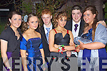 Eva Leahy, Helina Scannell, Seamus Lane, Laura Stenson, Neilus Stackpool and Patricia Quirke pictured at Saint Josephs Abbeyfeale Debs Ball at the Abbeygate hotel on Friday night.