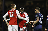 New signing Toumani Diagouraga and Cian Bolger of Fleetwood Town during the Sky Bet League 1 match between Southend United and Fleetwood Town at Roots Hall, Southend, England on 13 January 2018. Photo by Carlton Myrie.